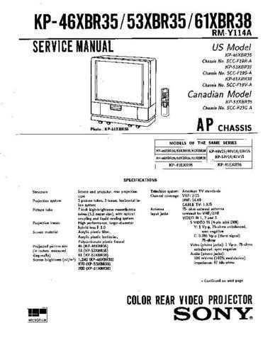Sony KP-46V35 Manual by download Mauritron #229348