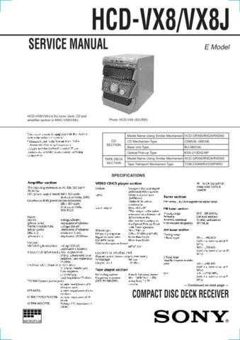SONY HCD-XB66K Technical by download #104978
