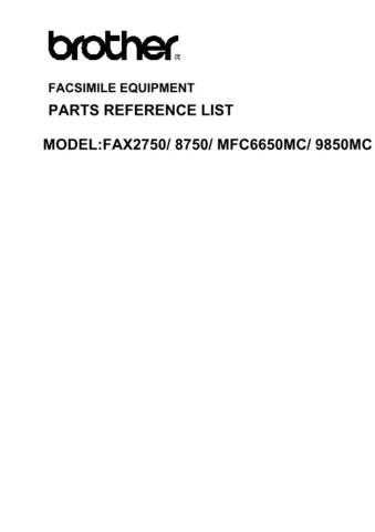 BROTHER mfc6650mc tech info-2- by download #100822