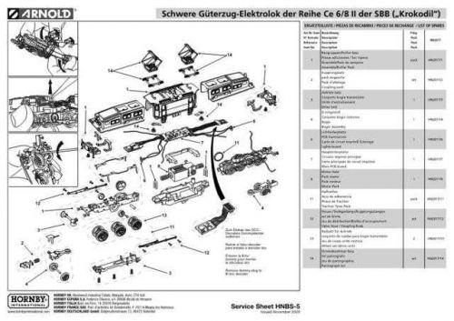 Arnold No.005 Schwere Guterzug-Elektrolok der Reihe Ce 6-8 II der SBB Krokodil H