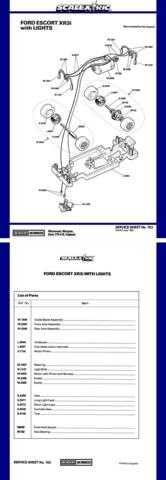 Scalextrix No.153 Ford Escort XR3i Service Sheets by download Mauritron #206336