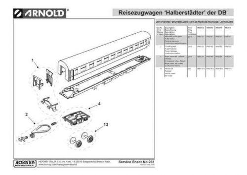 Arnold No.261 Reisezugwagen Halberstadter der DB HN4015 Information by download