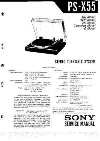 Sony PSX55 Technical Info by download #104832