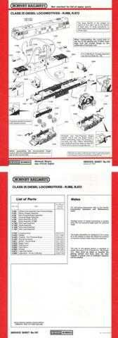 Hornby No.107 Class 25 Service Sheets by download Mauritron #206826