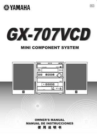 Yamaha GX-707 Operating Guide by download Mauritron #248078