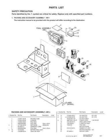 JVC GR-SXM290AA PAR SERVICE MANUAL by download Mauritron #220156