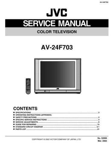 JVC AV-21L31B Service Manual Schematic Circuit. by download Mauritron #269568
