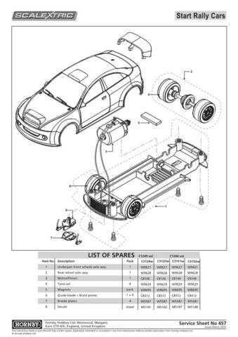Scalextrix No.457 Start Rally Cars Service Sheets by download Mauritron #206635