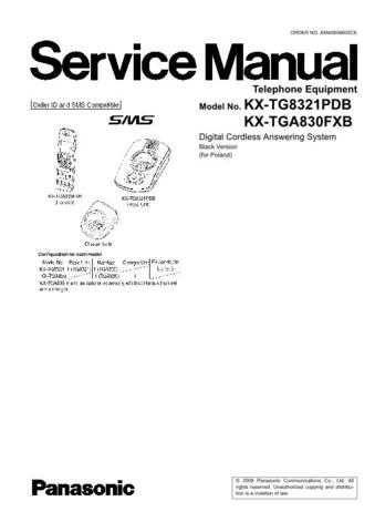 Panasonic KX-TG9341BXT KX-TGA930BXT KX-TGA931BXT by download Mauritron #267508