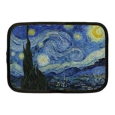 Starry Starry Night Van Gogh Neoprene 10 Inch Netbook Case