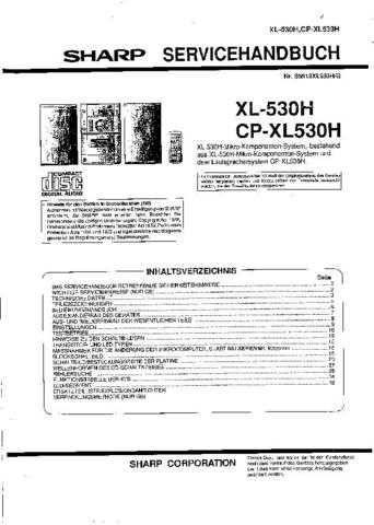 Sharp. XL530H-CPXL530H_SM_DE(1) Manual by download Mauritron #212108