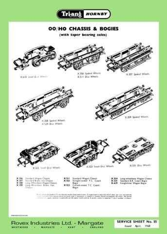 Triang Tri-ang No.055 Chassis and Bogies Service Sheets by download Mauritron #