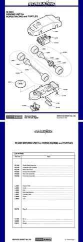 Scalextrix No.159 Driving Unit For Horse Racing And Turtles Service Sheets by d