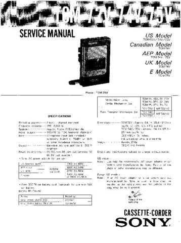 Sony TC-WR645S Service Manual. by download Mauritron #245532