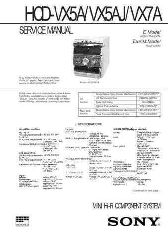 SONY HCD-XB66 Technical by download #104977