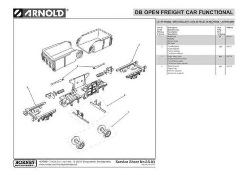 Arnold No.083 DB Open Freight Car Functional HN6014 Views etc by download Mauri