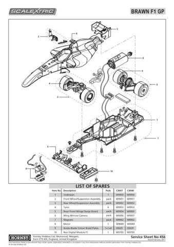 Scalextrix No.456 Brawn GP Service Sheets by download Mauritron #206634