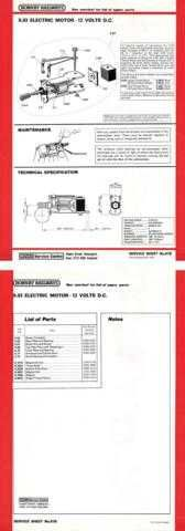 Hornby No.081B X03 Motor Service Sheets by download Mauritron #206787