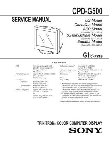 SONY GE-1A Technical by download #104951