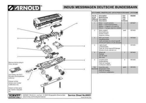 Arnold No.051 Indusi Messwagen Deutsche Bundesbahn HN2008 Views and Information
