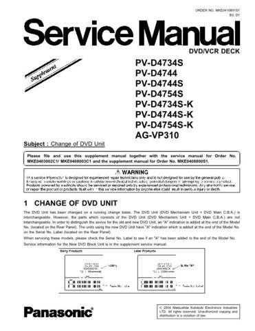 Panasonic MKE0605853CE Service Manual by download Mauritron #267947