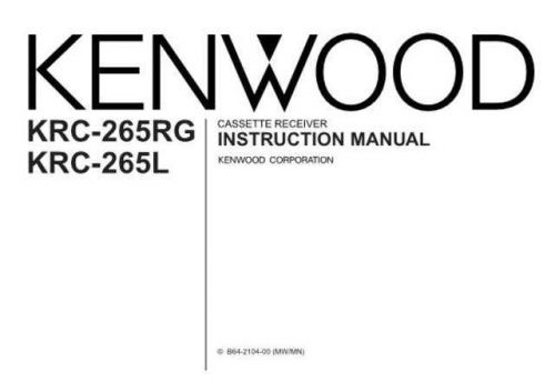 Kenwood KRC-266 Operating Guide by download Mauritron #219248