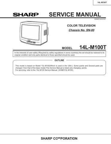 Sharp 14LM100T Service Manual by download Mauritron #207348