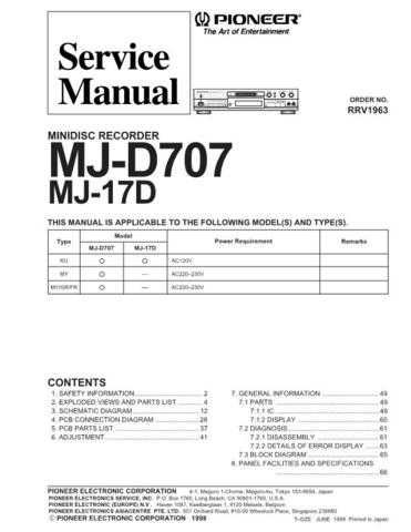 Pioneer R1963 Manual by download Mauritron #227755