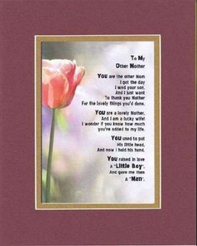 Poem For Mothers - To My Other Mom (from Daughter-in-Law) 11x14 DoubleMatting