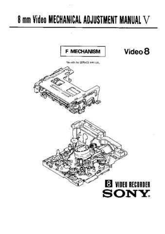 SONY FE-1-10 Technical by download #104924