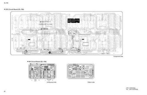 Yamaha EL700 500 PCB5 E(4) Manual by download Mauritron #256564
