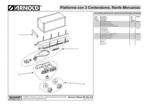 Arnold No.318 Platforma con 3 Contendores HN6080 Information by download Maurit