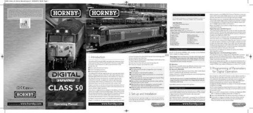 Hornby Class 50 LokSound V3.5 Information by download Mauritron #206704