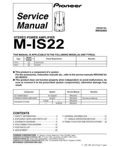 Pioneer R2445 Manual by download Mauritron #228048