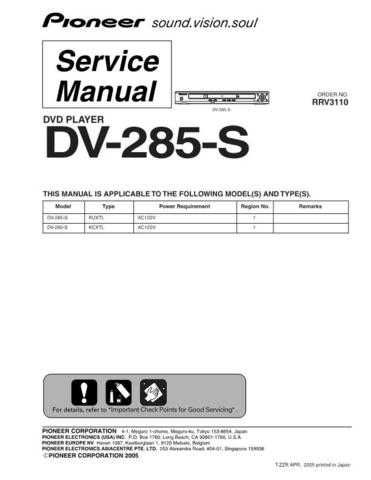 Pioneer DV-258-S Service Manual by download Mauritron #234007