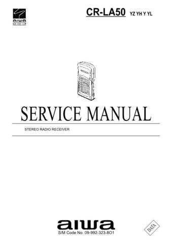 AIWA 09-992-323-8O1 Service Informat by download #107485