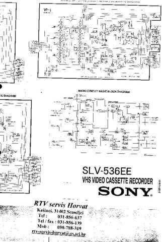 SONY SLV536EE Technical Info by download #104841
