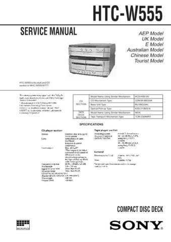 SONY ICD-R100PC Technical by download #104992