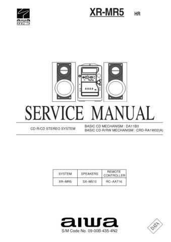 AIWA XR-MR5 HR by download #100334