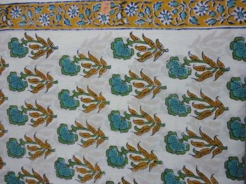 5yards Indian Hand Made pure cotton fabric hand block printed quilted fabrics