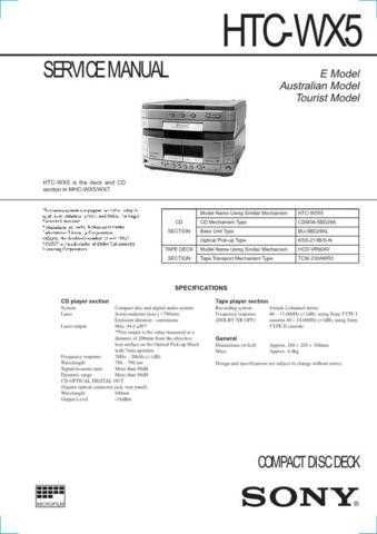 SONY ICF2001 RX WSM MTS A112 Technical Info by download #104993