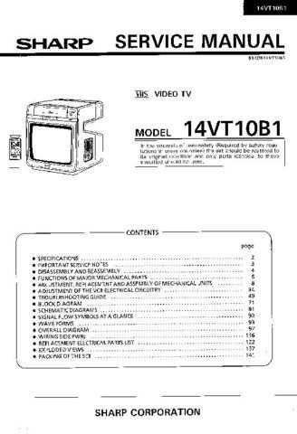 Sharp 14VT10B1 (1) Service Manual by download Mauritron #207370
