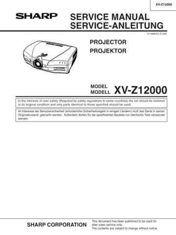 Sharp XVZ12000 Service Manual by download Mauritron #207713