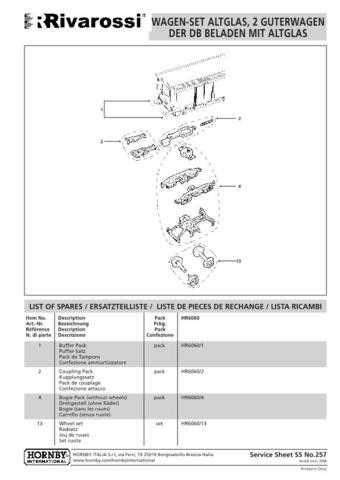 Arnold No.257 Altglas 2 Guterwagen Der BD Beladen Mit HN6060 Information by dow