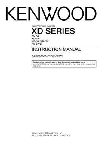 Kenwood XD-352 Operating Guide by download Mauritron #219884