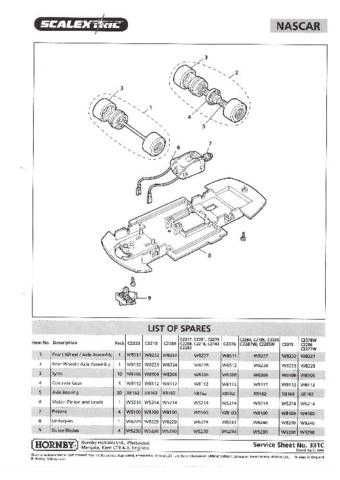 Scalextrix No.331C Nascar Service Sheets by download Mauritron #206416