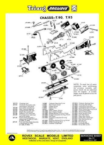 Triang Tri-ang No.011 Chassis T90 T95 Service Sheets by download Mauritron #206