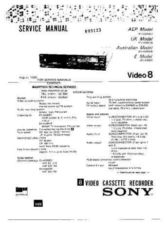 SONY F500R Technical by download #104920