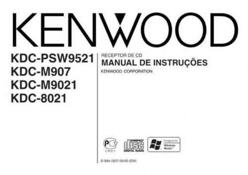 Kenwood KDC-M907 Operating Guide by download Mauritron #221999