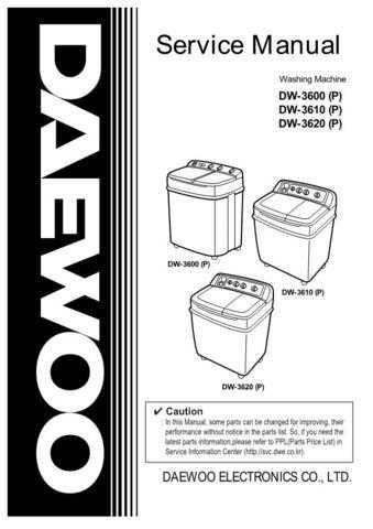 Daewoo. WM3600G012. Manual by download Mauritron #214061